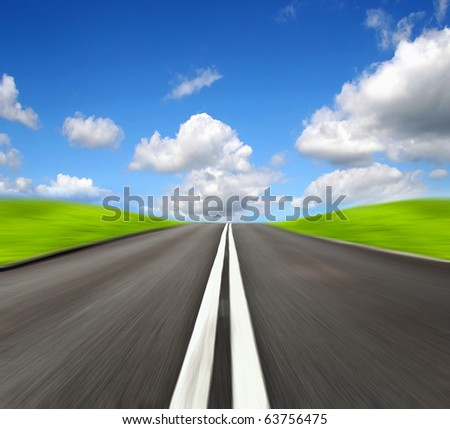 Speed road - stock photo