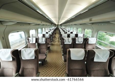 Speed train car seat interior