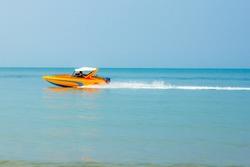 speedboat motor fast boat in sea t