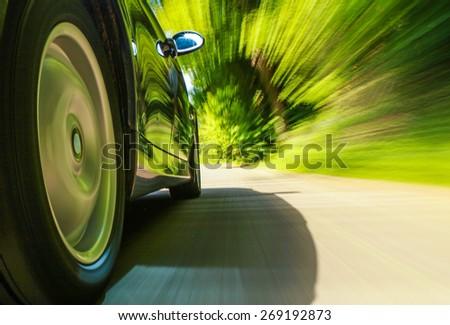 Speeding car. #269192873