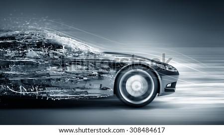 speeding car concept