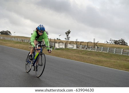 Speeding female cyclist
