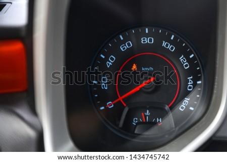 Speedometer and seat belt symbol. #1434745742