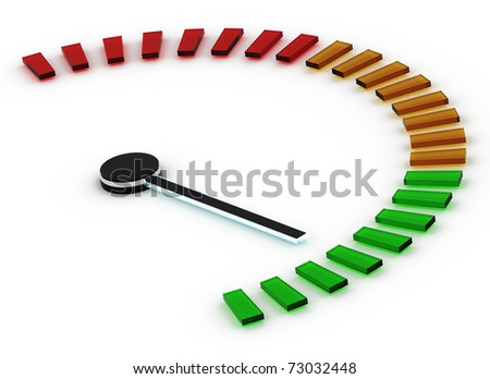 Speedometer isolated on a white background - stock photo