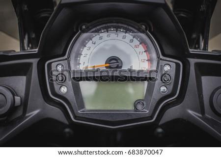 Speedometer of motorcycle #683870047