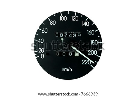 Speedometer on a White Background