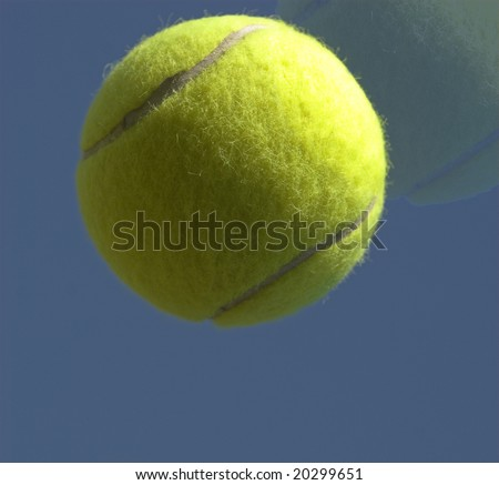 Speedy Tennis Ball Tennis Competition - Yellow tennis ball sky blue