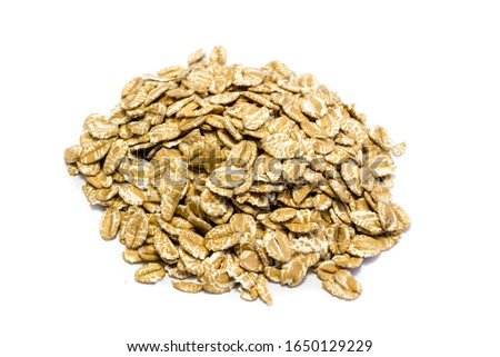 Spelled flakes isolated isolated on white background