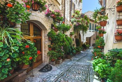 Spello and its nooks and streets of the beautiful Italian towns in Italy.