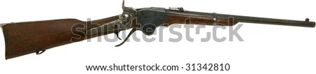 Spencer rifle from old west isolated on white