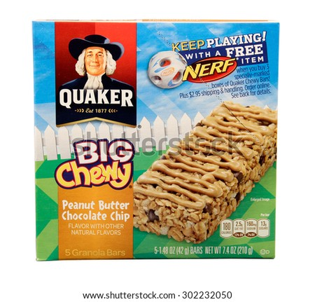 Royalty-free RIVER FALLS,WISCONSIN-APRIL14, 2014: A ... Quaker Chewy Logo