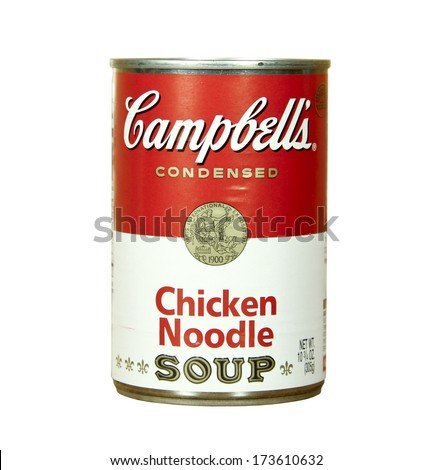 WISCONSIN - JANUARY 27, 2014 : can of Campbell's Chicken Noodle Soup ...
