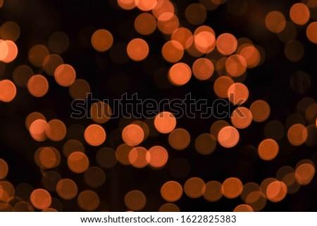 spendid round and orange bokeh