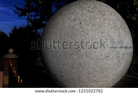 Sphere Glass Granite #1231022782