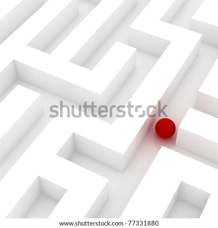 sphere in an abstract maze