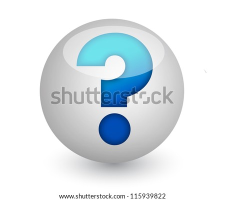 sphere with a question mark inside illustration design