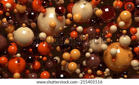Shutterstock Spheres background in brown colors HD.