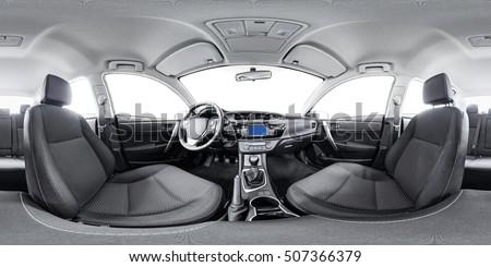 Spherical panorama 360 inside car equidistant panorama inside car. Vehicle interior car panorama 360 degree of auto virtual panorama vehicle interior 360 panorama of auto. Inside automobile panorama