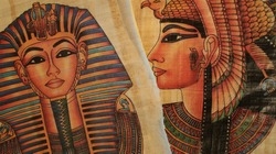 sphinx and cleopatra. Egyptian Souvenir Papyrus