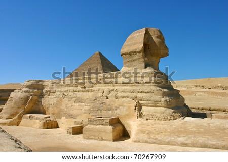 Sphinx in cairo - site of giza