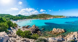 Spiaggia del Principe, amazing beach of Emerald coast, east Sardinia island, Italy