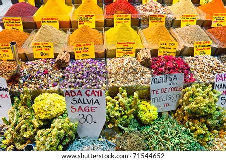 Spice bazaar shops in Istanbul. Turkey.