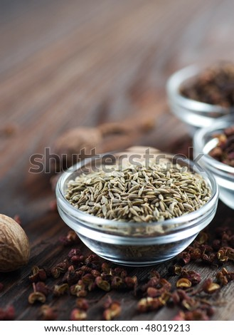 Spice Border.Caraway or Cumin