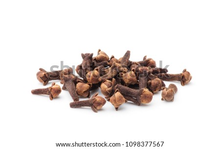 Spice cloves on white background