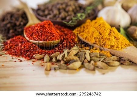 Spice, Curry Powder, Herb.
