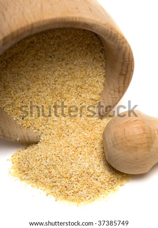 Spice of garlic isolated on white