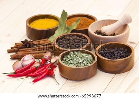 spices and flavorings - stock photo
