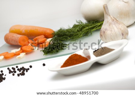 Spices and kitchen