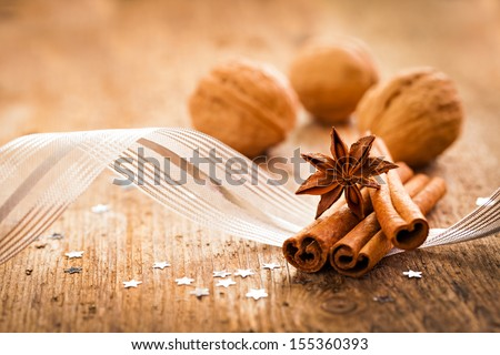 spices anise and cinnamon for christmas
