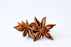 spices, anise star, fragrant spices on a white background, anise, spices on a white background, fragrant spices, isolate