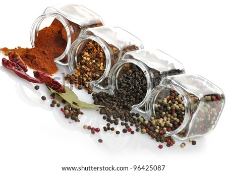 Spices Assortment In The Glass Jars