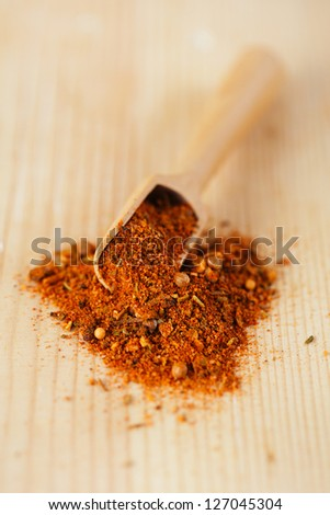 spices Chicken BBQ Rub mix of Herbs, shallow dof