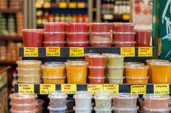 Spices for sale at Naschmarkt, Vienna