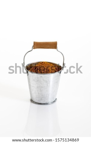 Spices in a bucket, curry powder
