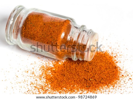 spices in glass bottle
