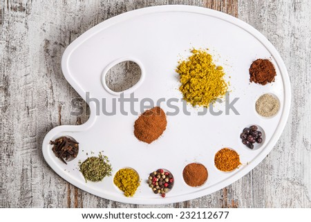 spices on a palette pictorial #232112677