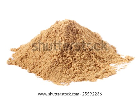 spices - pile of Light Garam Masala over white