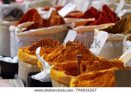 Spices, Street Market, Medina of Sousse, Tunisia  #796816267
