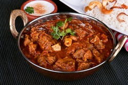 Spicy and delicious mutton curry