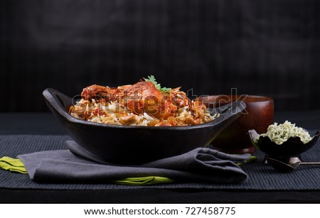 Spicy and tasty chicken biryani