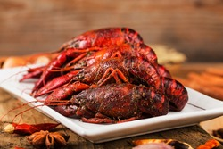 Spicy crayfish crawfish food Chinese food crustaceans Red crayfish