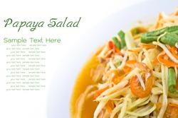 Spicy green papaya salad,  Thai cuisine