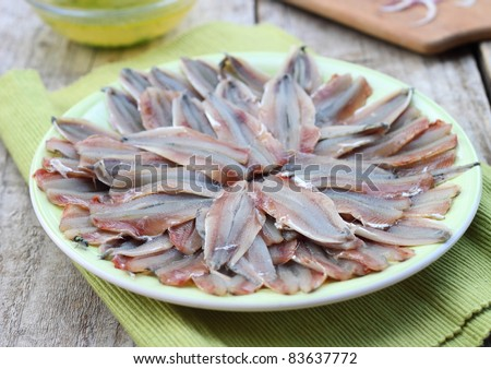 Spicy marinated anchovies