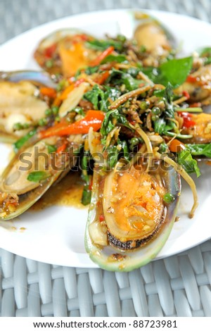 Spicy mussel Basil