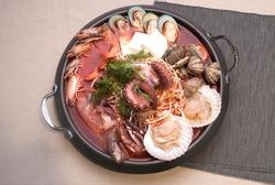 Spicy octopus Korean hot pot