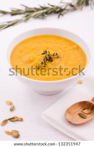 Spicy Pumpkin Soup with oregano